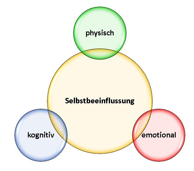 Selbstbeeinflussung drei Ebenen: Physisch, kognitiv, emotional