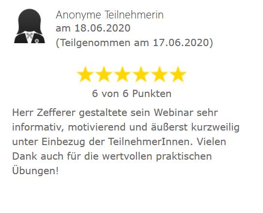 Webinarbewertung